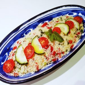 Amanida maghreb amb couscous integral