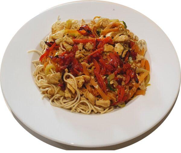 Pollastre Oriental amb verdures